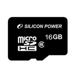 Карта памяти SILICON POWER Micro SDHC 16 GB (SP016GBSTH010V10)