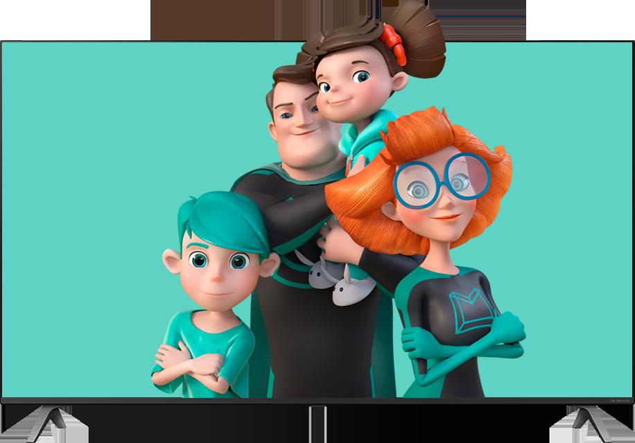 Фото телевизора с героями